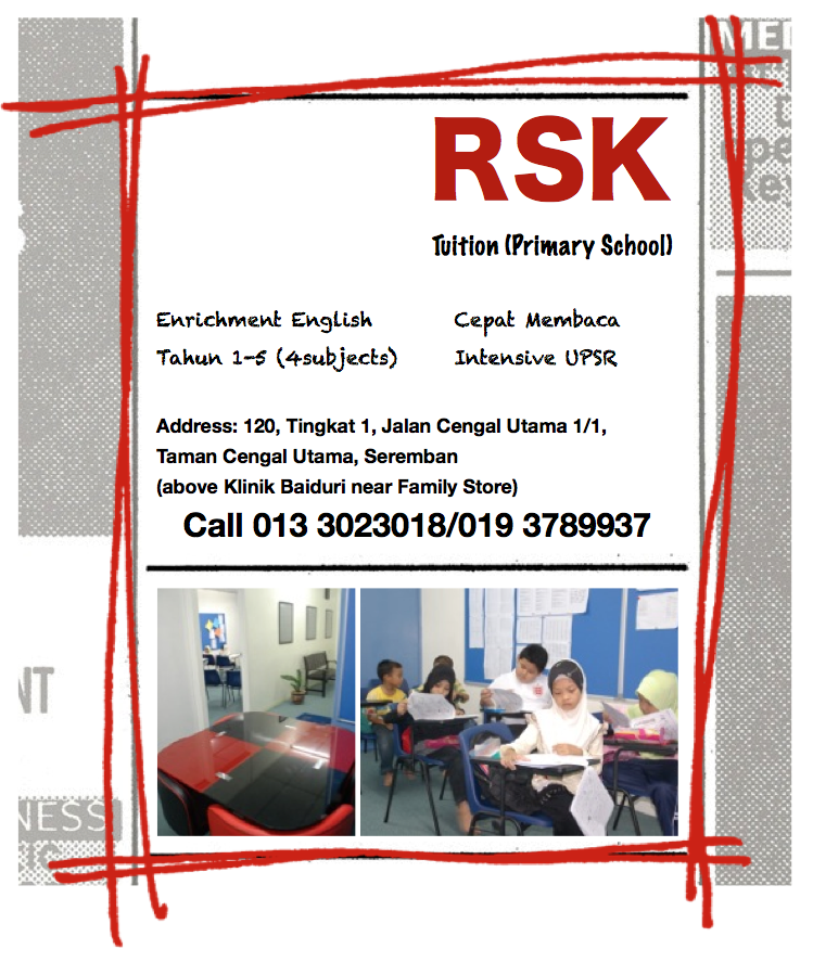 RsK Tuition Primary Main Page